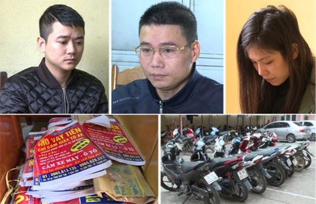 Một số đối tượng hoạt động tín dụng đen bị Công an tỉnh Thanh Hoá bắt giữ.