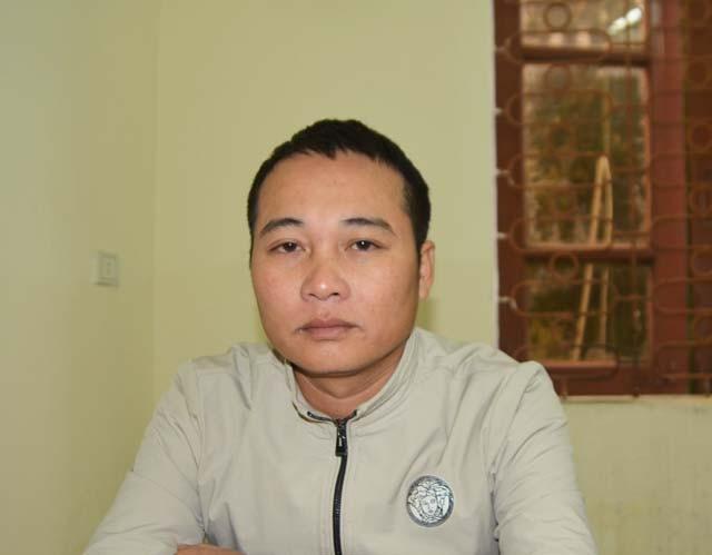 Đối tượng Nguyễn Trung Tính tại cơ quan cảnh sát điều tra Công an tỉnh Nghệ An (ảnh Quỳnh Trang)