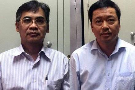 Cựu tổng Giám đốc Từ Thành Nghĩa (trái) và Võ Quang Huy