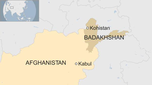 Vụ tai nạn xảy ra ở Kohistan, tỉnh Badakhshan, Afghanistan. (Ảnh: BBC)