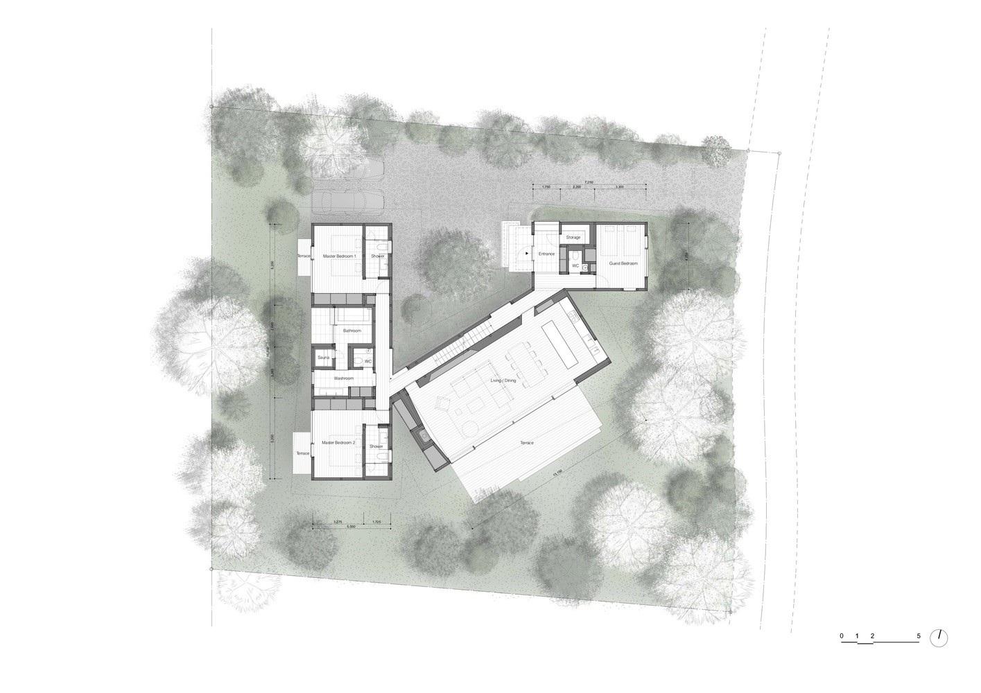 """Biệt thự hình """"4 chiếc lá rơi"""" đẹp như mơ của kiến trúc sư Nhật Bản - Ảnh 13."""