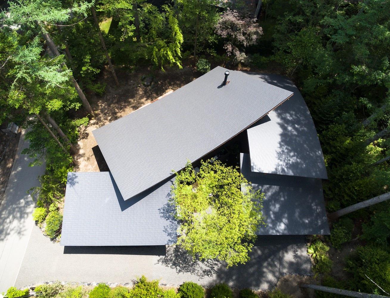 """Biệt thự hình """"4 chiếc lá rơi"""" đẹp như mơ của kiến trúc sư Nhật Bản - Ảnh 4."""