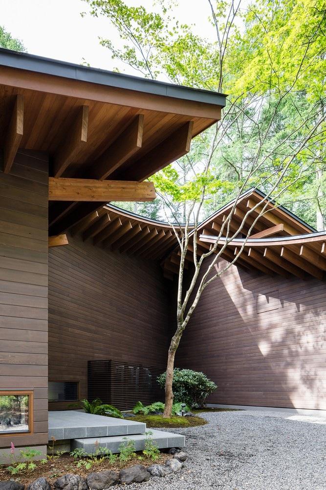 """Biệt thự hình """"4 chiếc lá rơi"""" đẹp như mơ của kiến trúc sư Nhật Bản - Ảnh 9."""