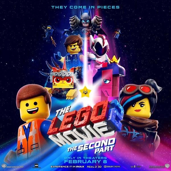 2019 đánh dấu mốc 5 năm từ khi The Lego Movie được ra mắt. Là phần hậu truyện của bộ phim năm 2014, The Lego Movie 2: The Second Part không chỉ lấy bối cảnh ăn theo Mad Max mà lần này cuộc phiêu lưu của nhóm bạn Emmet, Wyldstyle, Batman, Benny và Unikitty còn ra tận ngoài vũ trụ.