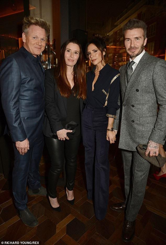 Vợ chồng Beckham đẹp đôi dự tiệc - Ảnh 6.