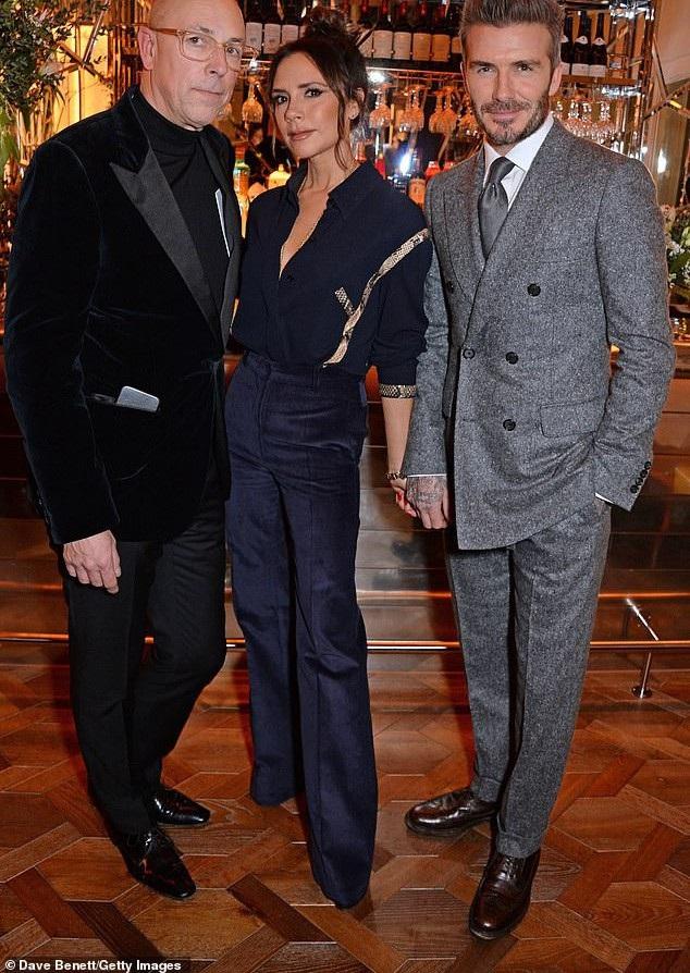 Vợ chồng Beckham đẹp đôi dự tiệc - Ảnh 8.