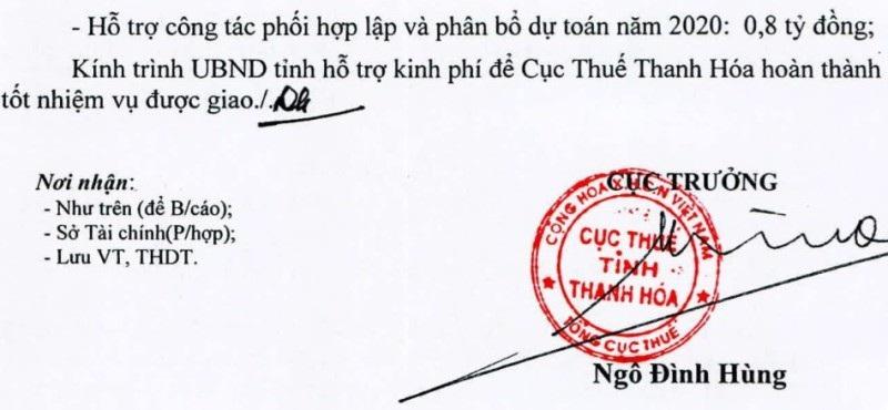 Cục Thuế Thanh Hóa xin 700 triệu đồng để động viên cán bộ - Ảnh 3.