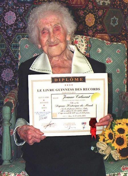 Cụ bà Jeanne Calment đang được ghi nhận là người phụ nữ sống thọ nhất