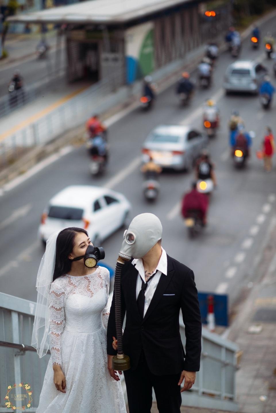 Bộ ảnh đeo mặt nạ cảnh báo ô nhiễm không khí gây ám ảnh dân mạng - 8