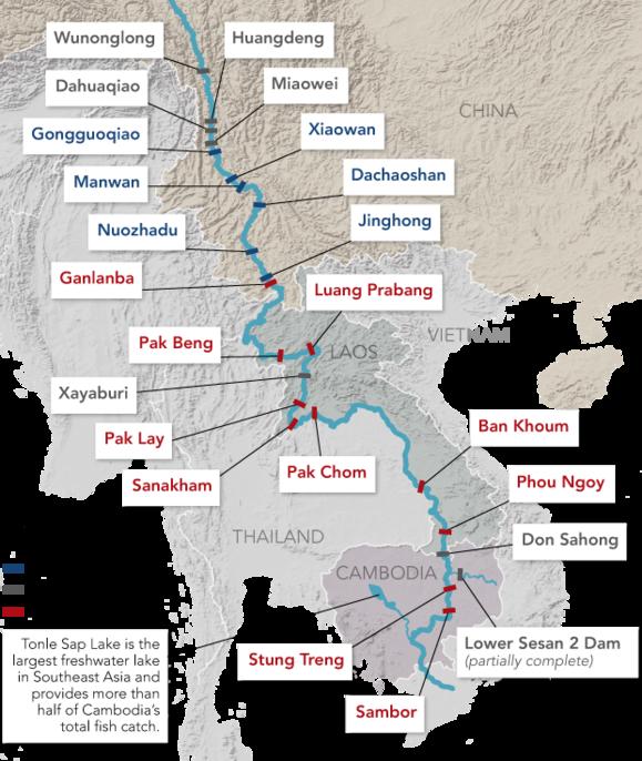 """Hiểm họa """"cuộc chiến nước"""" từ các đập thủy điện của Trung Quốc trên sông Mekong - 1"""