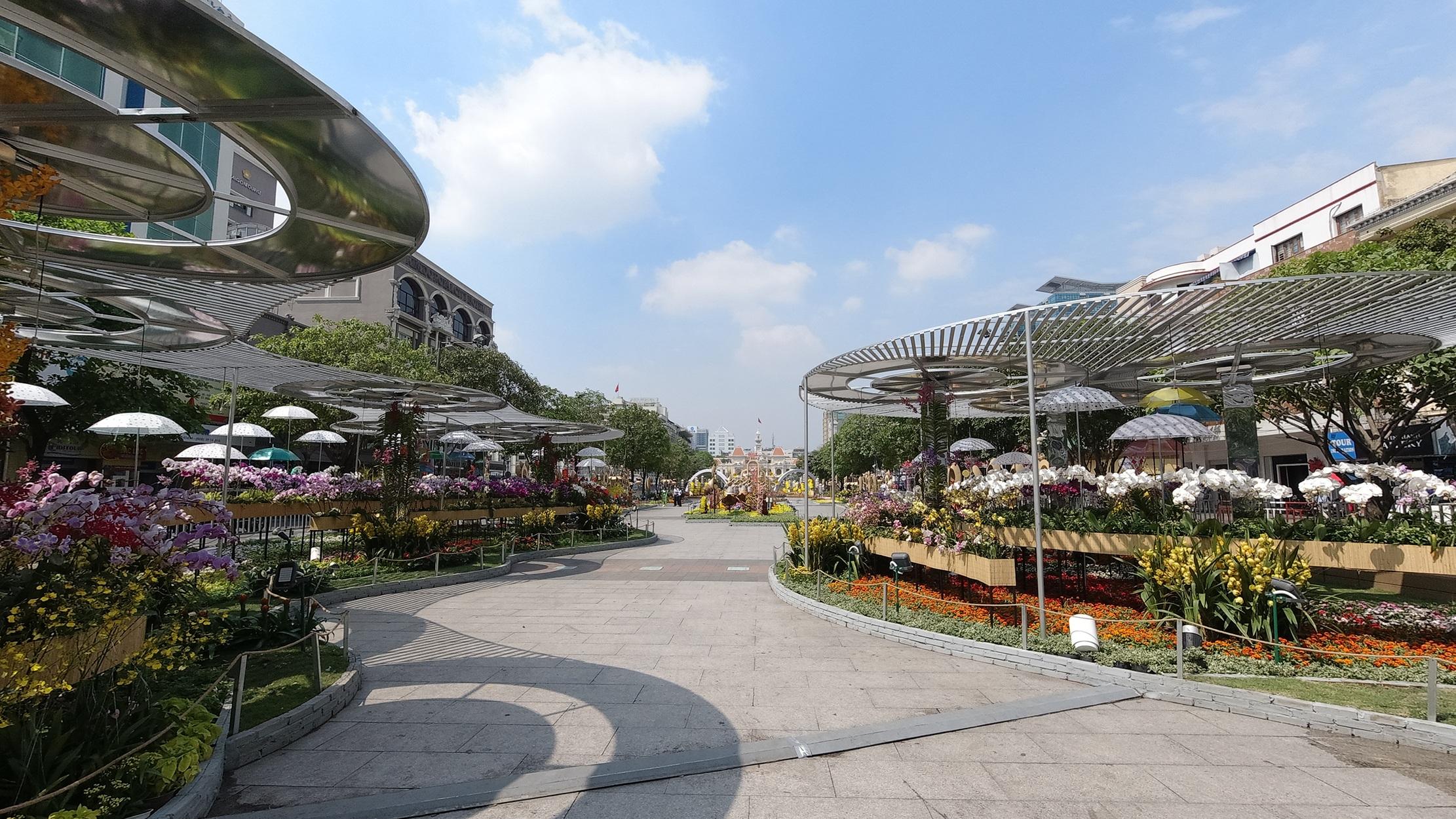 Mãn nhãn ngắm đường hoa Nguyễn Huệ trước giờ G - 22