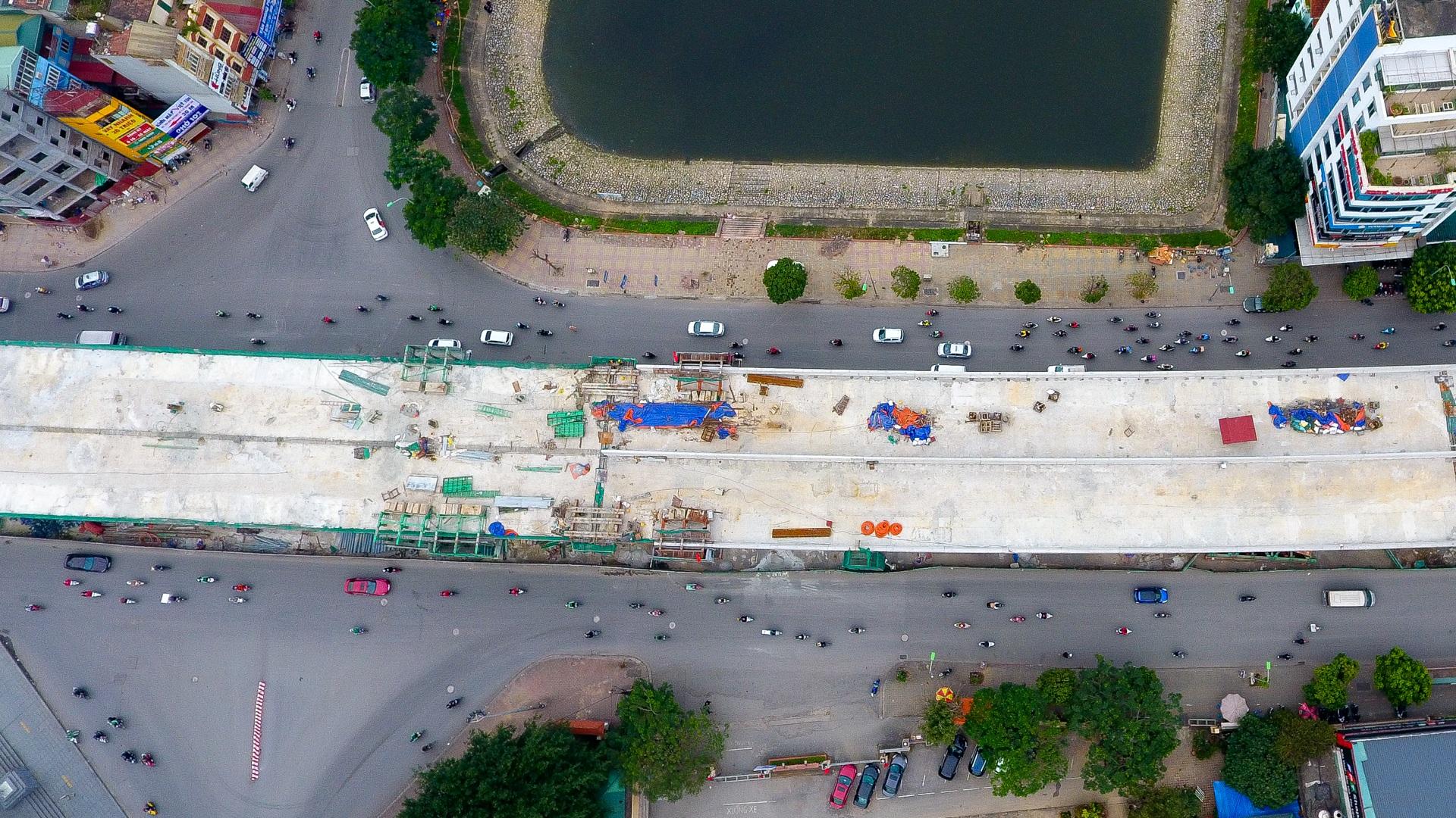 Đại công trường trên cao 9.400 tỷ xuyên đường cong mềm mại ở Hà Nội - 12