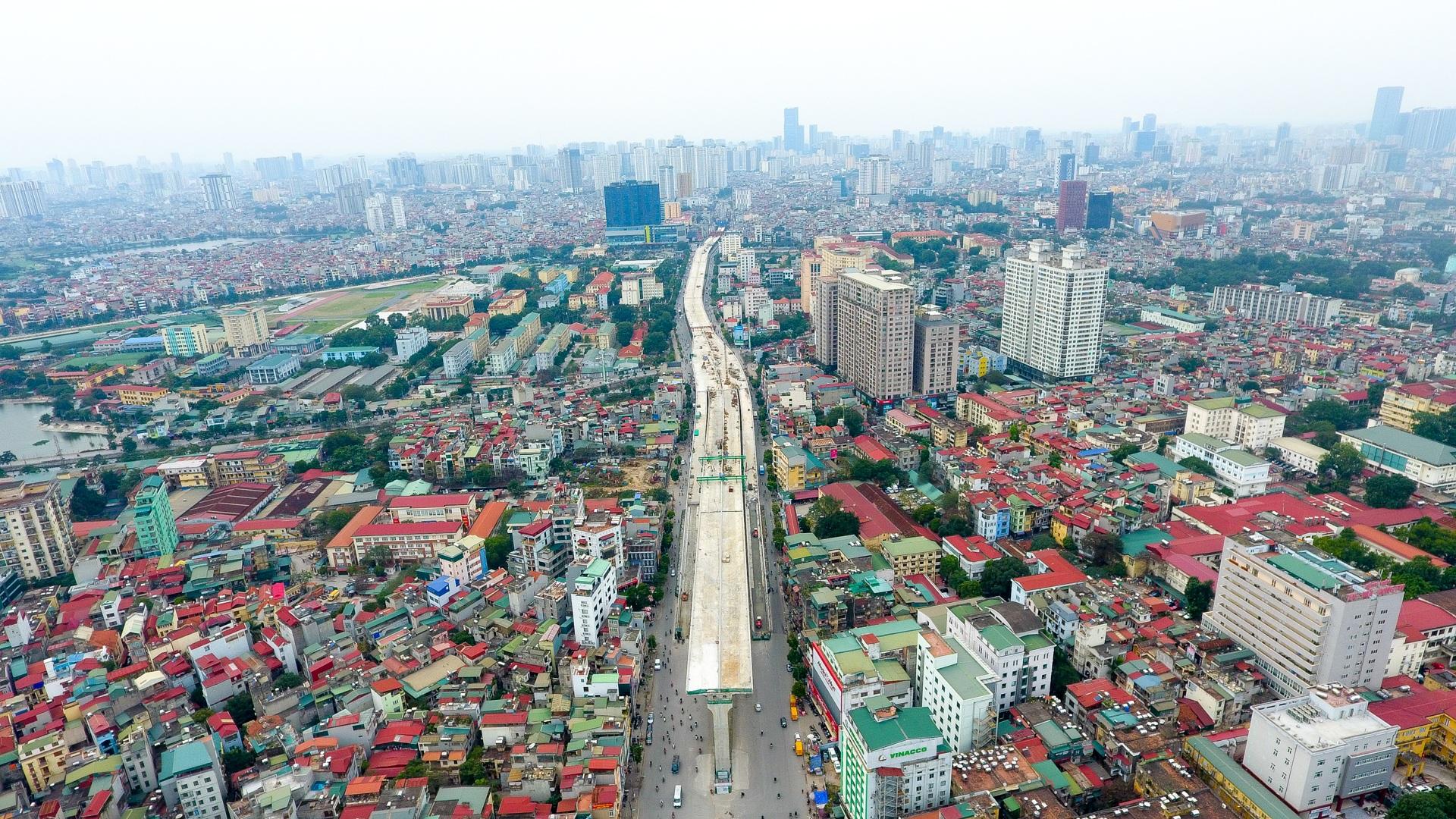 Đại công trường trên cao 9.400 tỷ xuyên đường cong mềm mại ở Hà Nội - 13