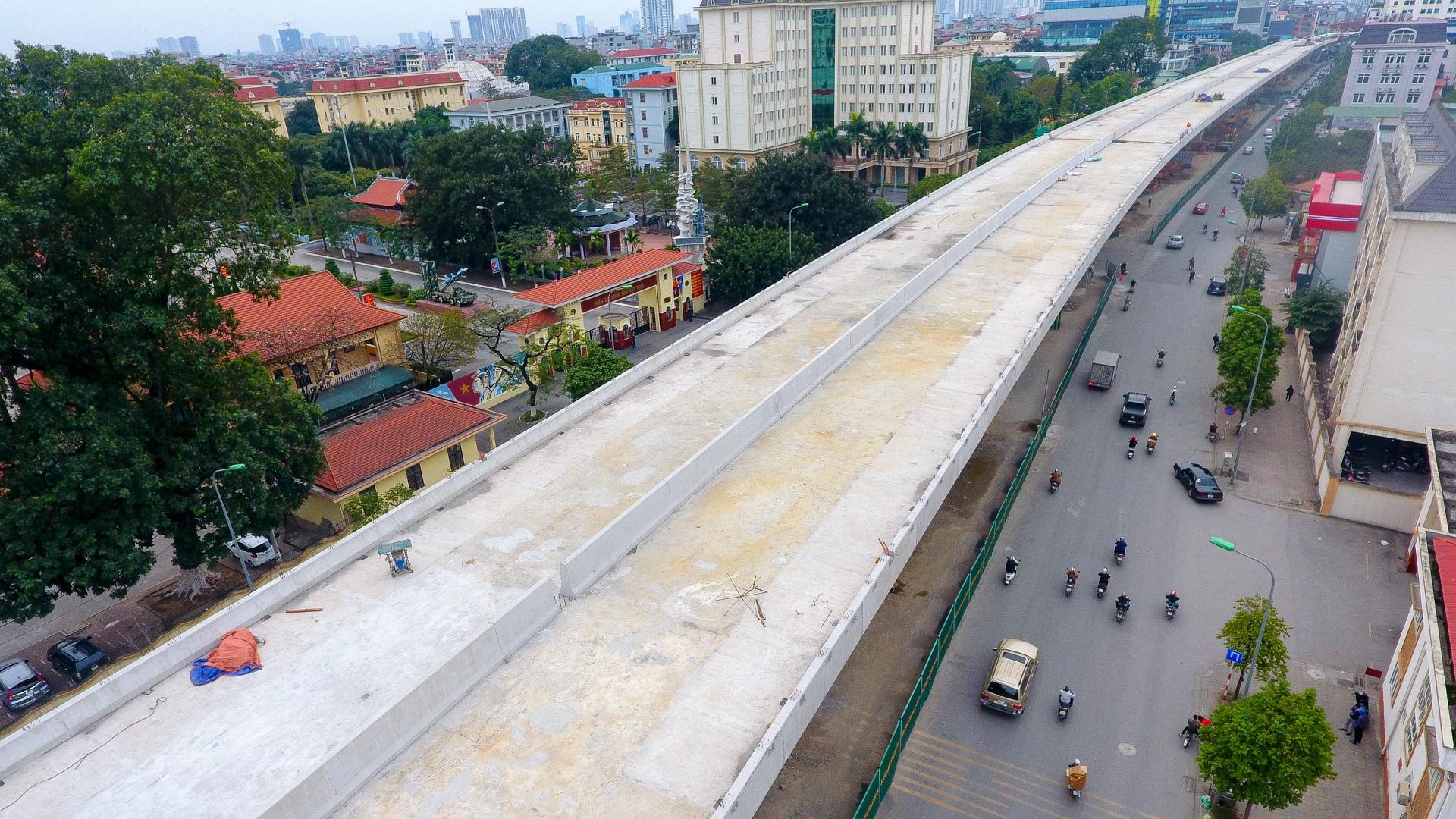 Đại công trường trên cao 9.400 tỷ xuyên đường cong mềm mại ở Hà Nội - 10
