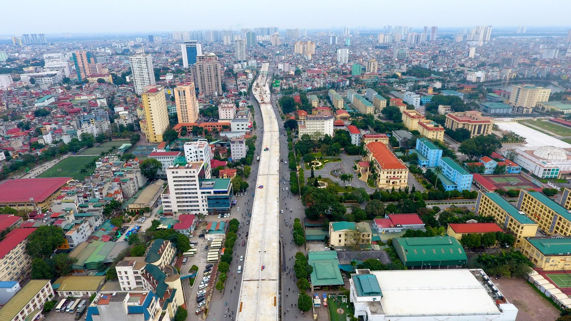 Đại công trường trên cao 9.400 tỷ xuyên đường cong mềm mại ở Hà Nội - 11