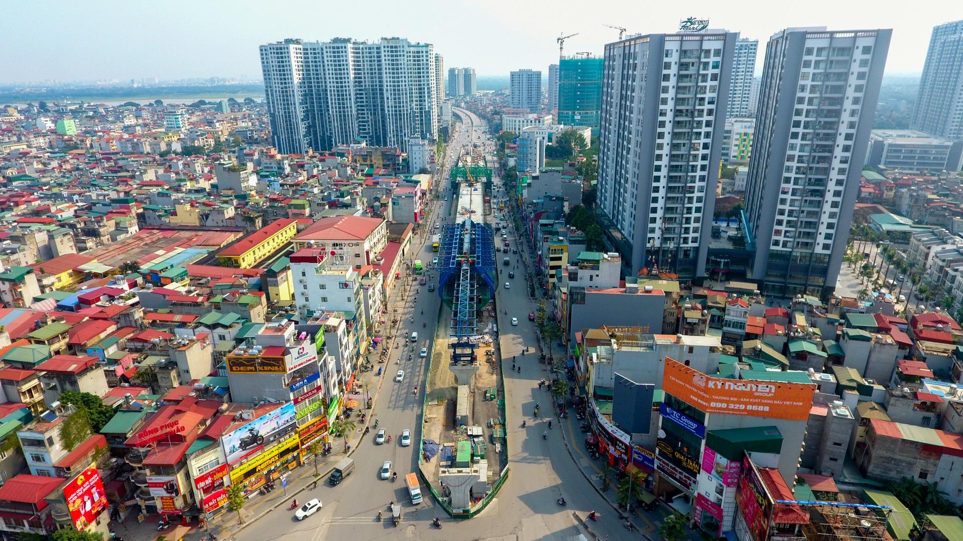 Đại công trường trên cao 9.400 tỷ xuyên đường cong mềm mại ở Hà Nội - 26