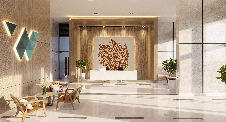 Thiết kế sảnh đón hiện đại hiếm thấy tại các căn hộ phân khúc tầm trung