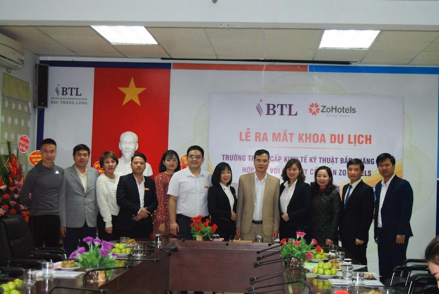 Hợp tác mở khoa Du lịch giữa trường Trung cấp Kinh tế Kỹ thuật Bắc Thăng Long và Zo Hotels