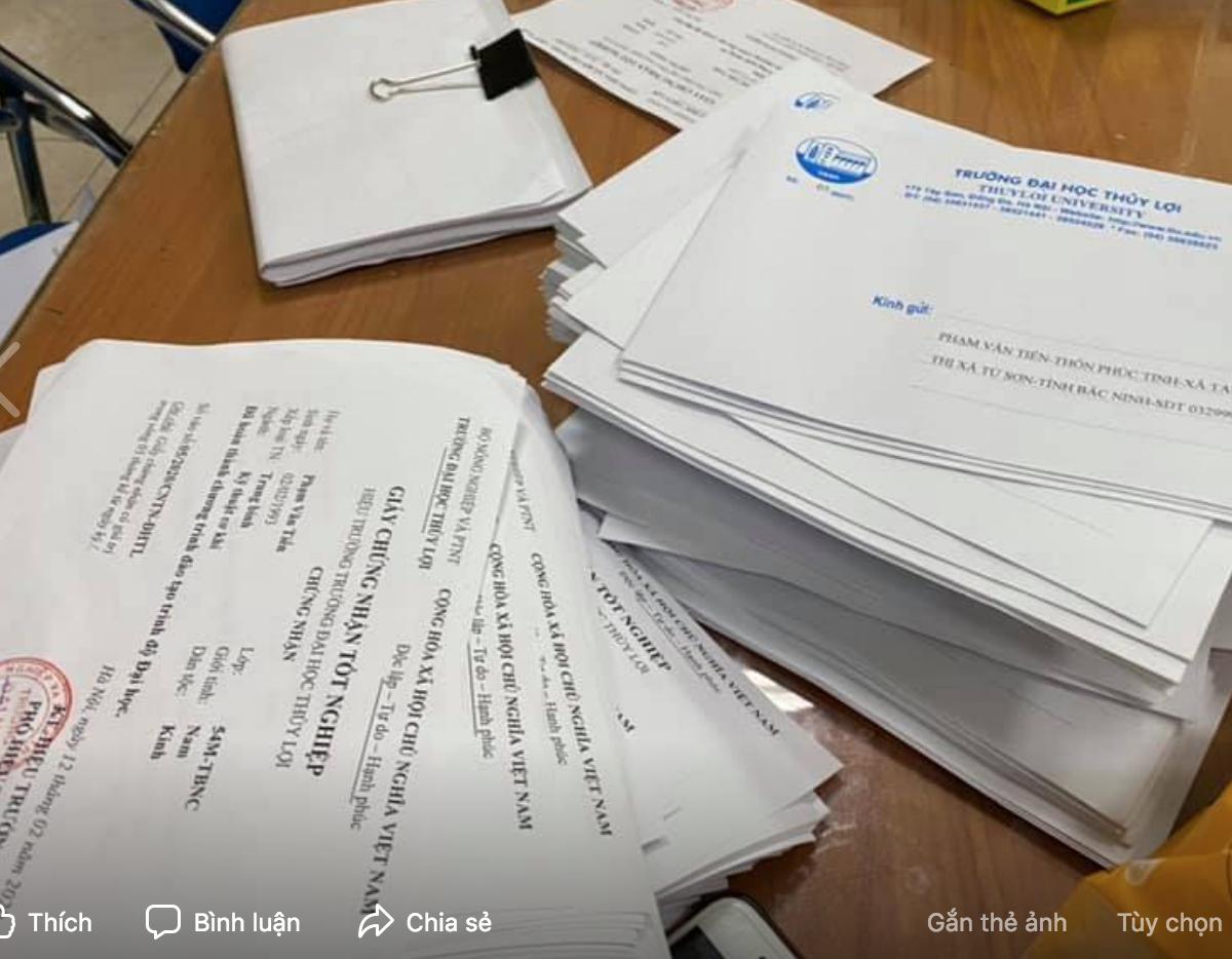 Hơn 1.300 kỹ sư, cử nhân ĐH Thủy Lợi nhận kết quả tốt nghiệp qua bưu điện