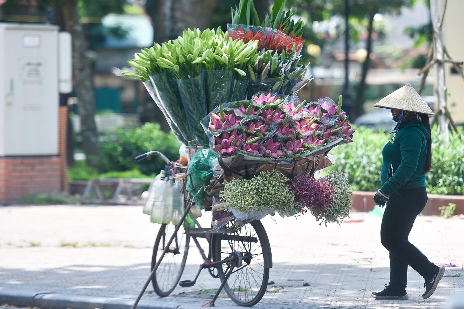 Hà Nội: Ngẩn ngơ với sắc sen đầu mùa xuống phố - 20