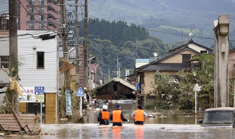 Cảnh đổ nát tại Nhật Bản sau thảm họa mưa lũ khiến 50 người chết - 5