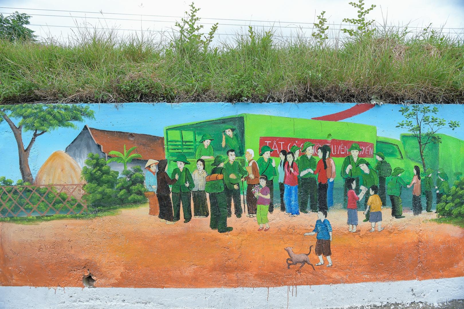 Con đường bích họa dài hơn 2 km ở ngoại thành Hà Nội - 13