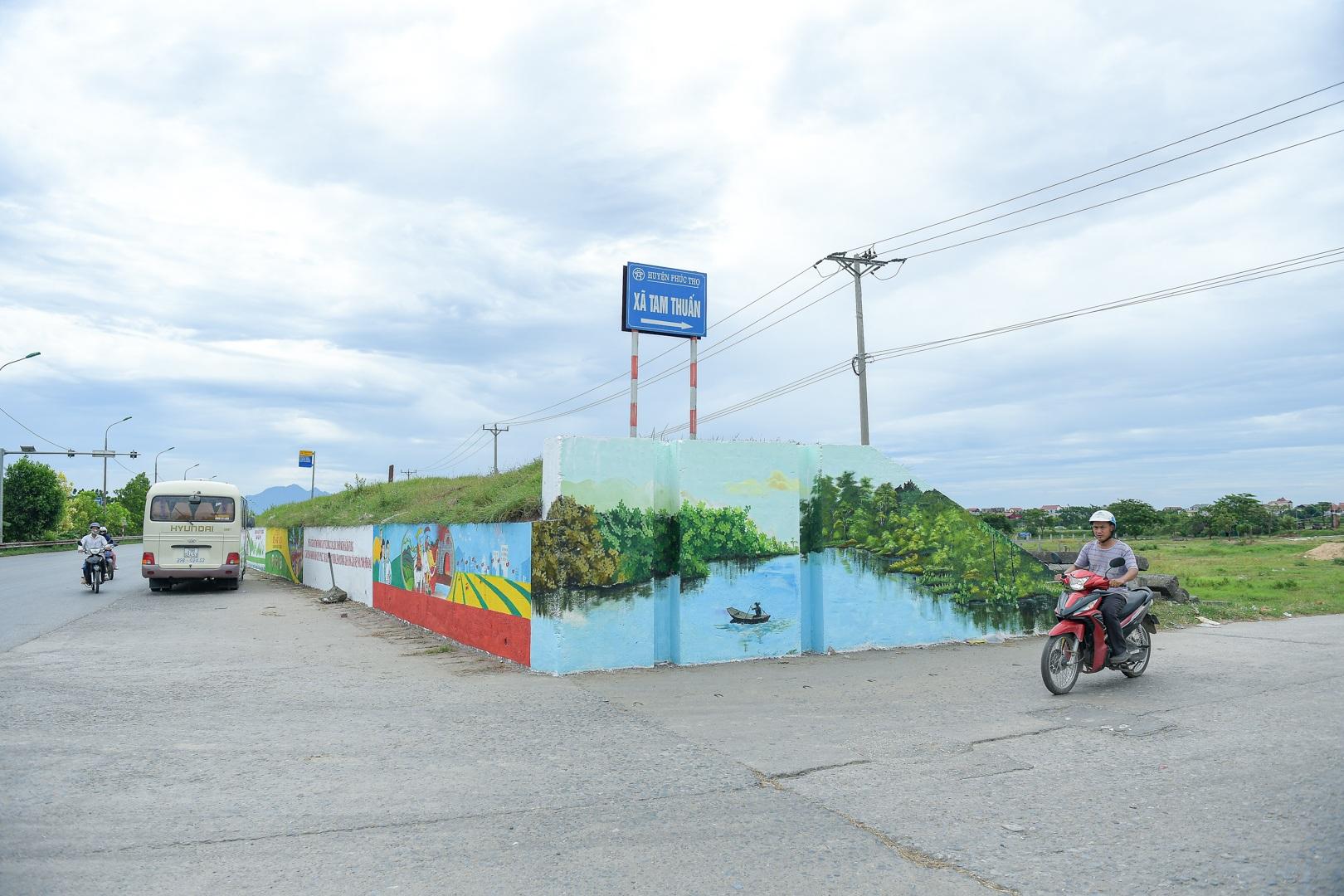 Con đường bích họa dài hơn 2 km ở ngoại thành Hà Nội - 2