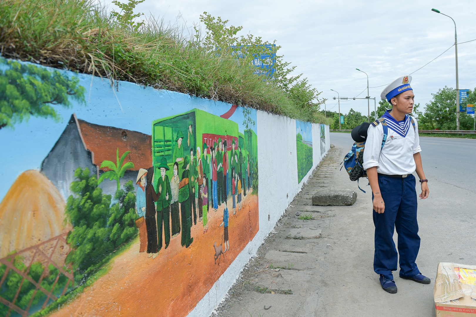 Con đường bích họa dài hơn 2 km ở ngoại thành Hà Nội - 14