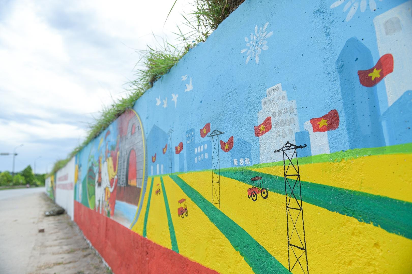 Con đường bích họa dài hơn 2 km ở ngoại thành Hà Nội - 15