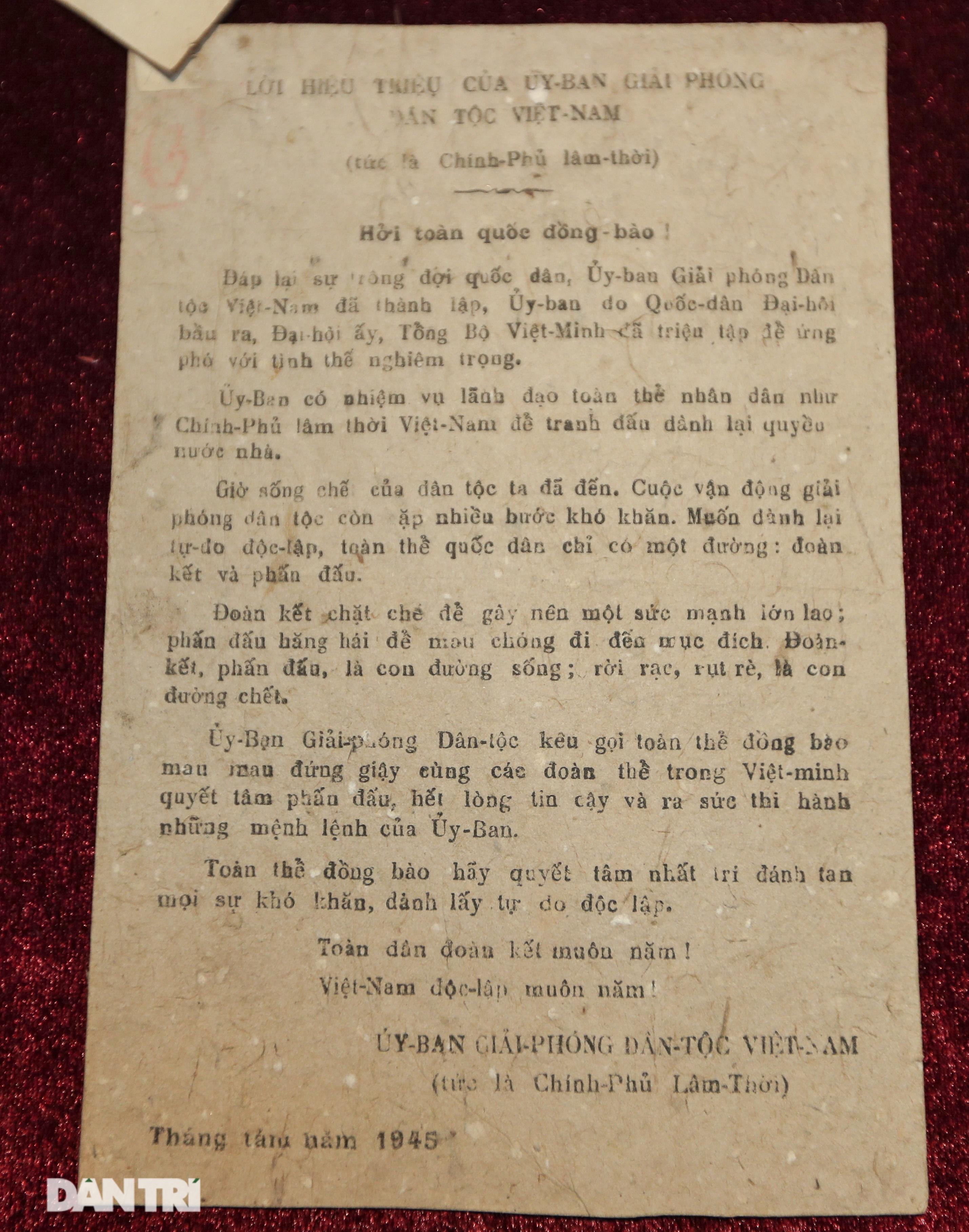 Kỷ vật ghi lời hiệu triệu hào hùng của Bác Hồ ngày Tổng khởi nghĩa - 6