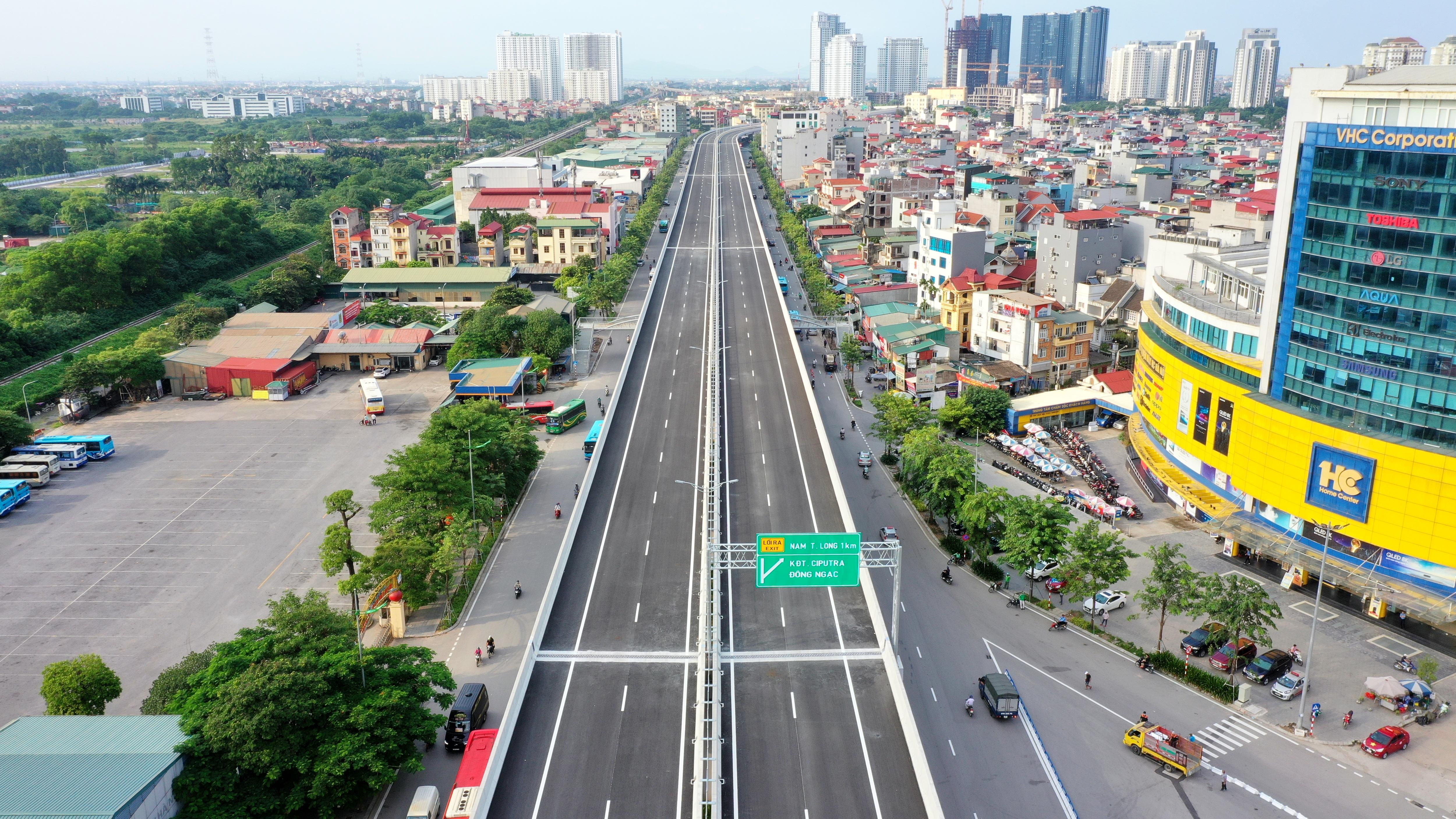 Cận cảnh đường trên cao 5.000 tỷ đồng đẹp nhất Hà Nội trước ngày thông xe - 2