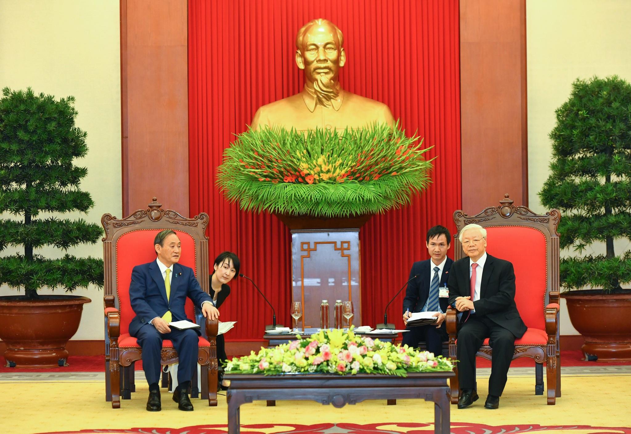 Tổng Bí thư, Chủ tịch nước Nguyễn Phú Trọng tiếp Thủ tướng Nhật Bản - 3