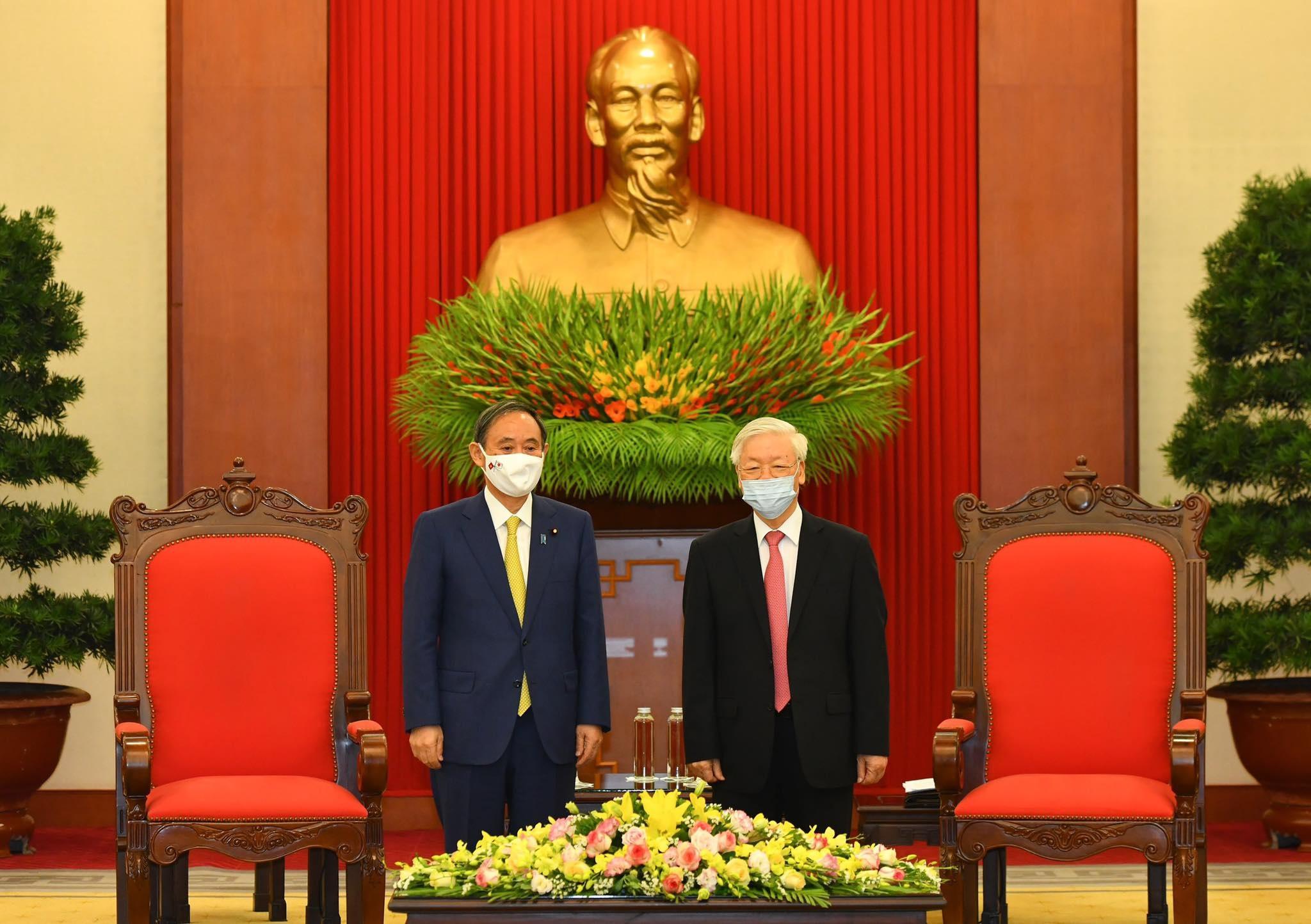 Tổng Bí thư, Chủ tịch nước Nguyễn Phú Trọng tiếp Thủ tướng Nhật Bản - 2