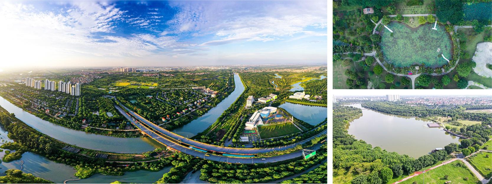 Thành phố triệu cây xanh Ecopark nhìn từ camera bay - 8