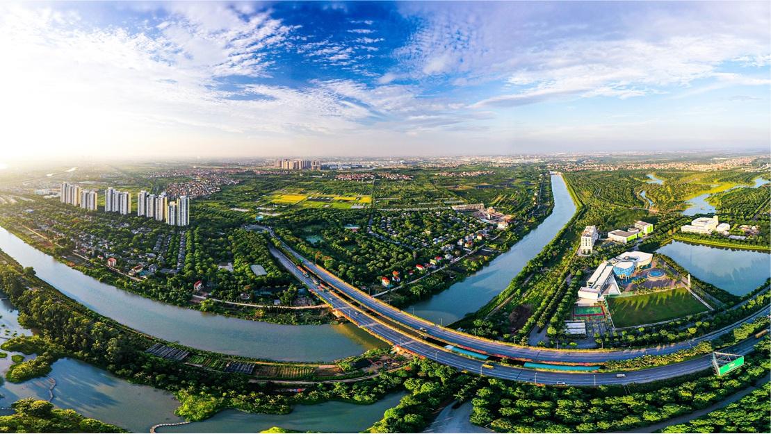Thành phố triệu cây xanh Ecopark nhìn từ camera bay - 10