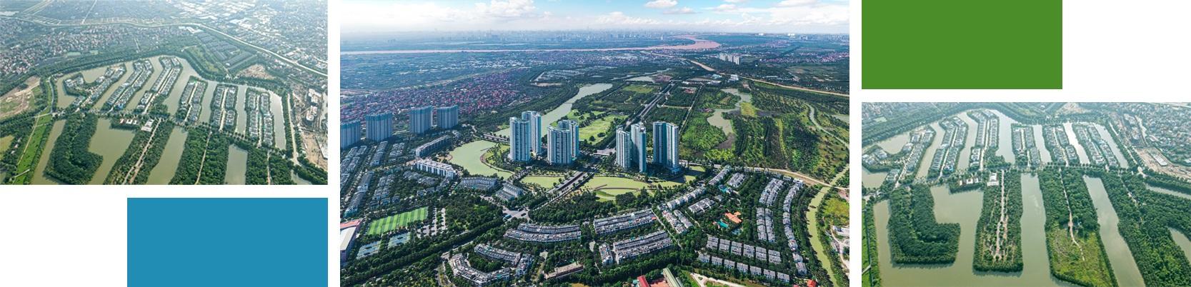 Thành phố triệu cây xanh Ecopark nhìn từ camera bay - 9