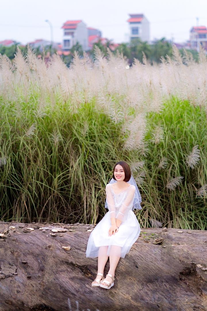 Bãi cỏ lau trắng tuyệt đẹp hút giới trẻ Hà thành tới sống ảo - 11