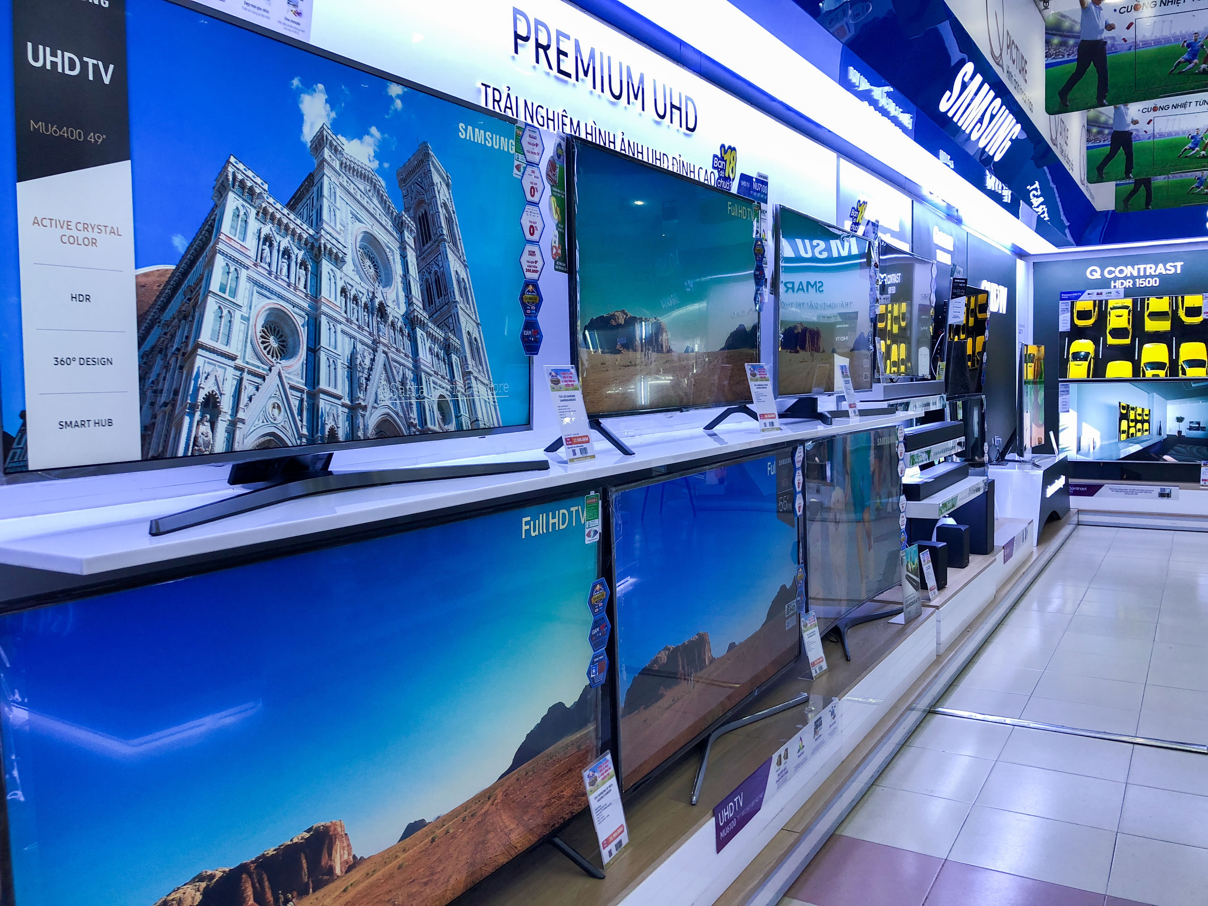 Thị trường TV sôi động những ngày cận kề mùa Euro