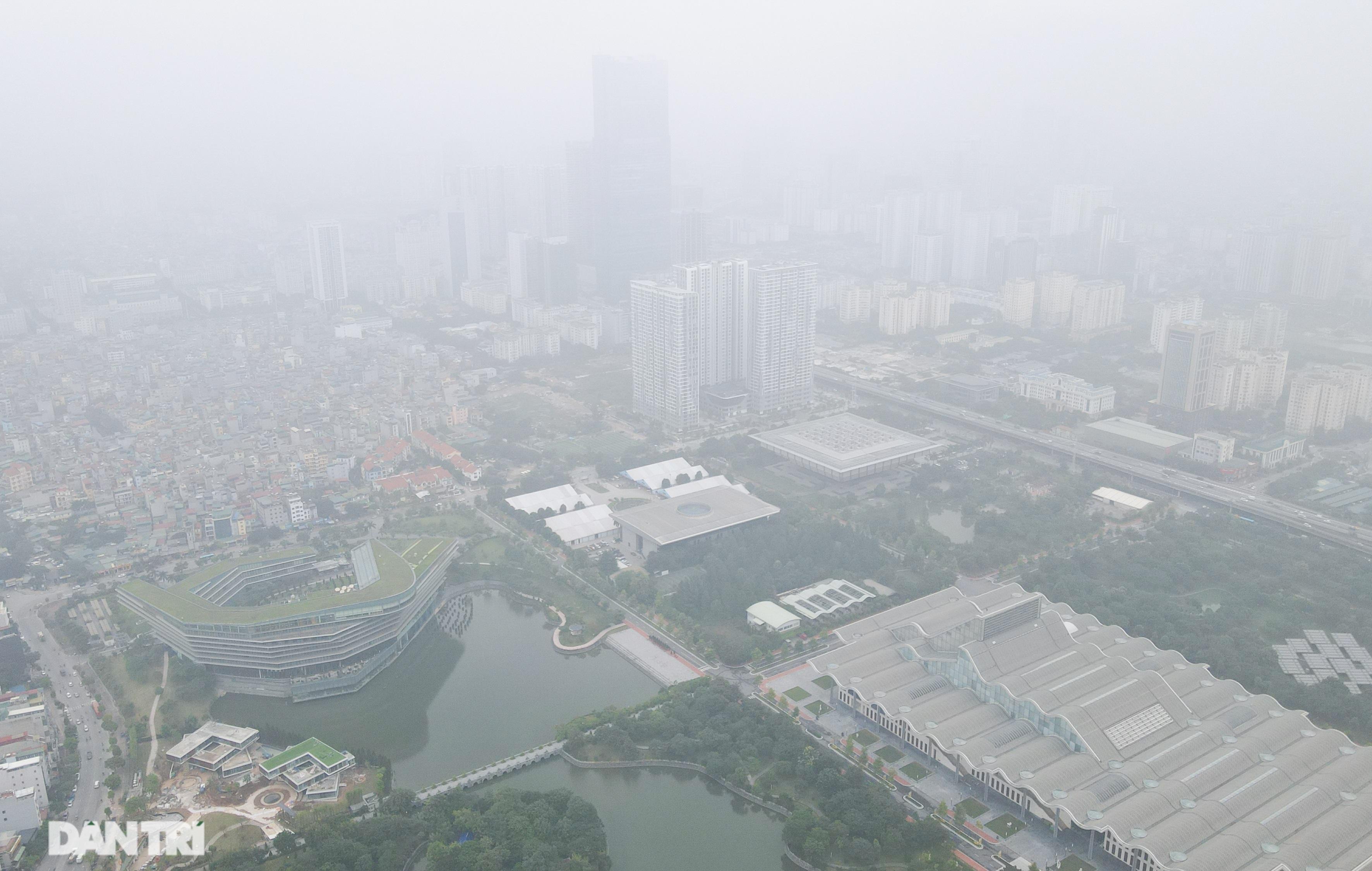 Xuất hiện hiện tượng nghịch nhiệt, Hà Nội chìm trong màn sương đục - 5