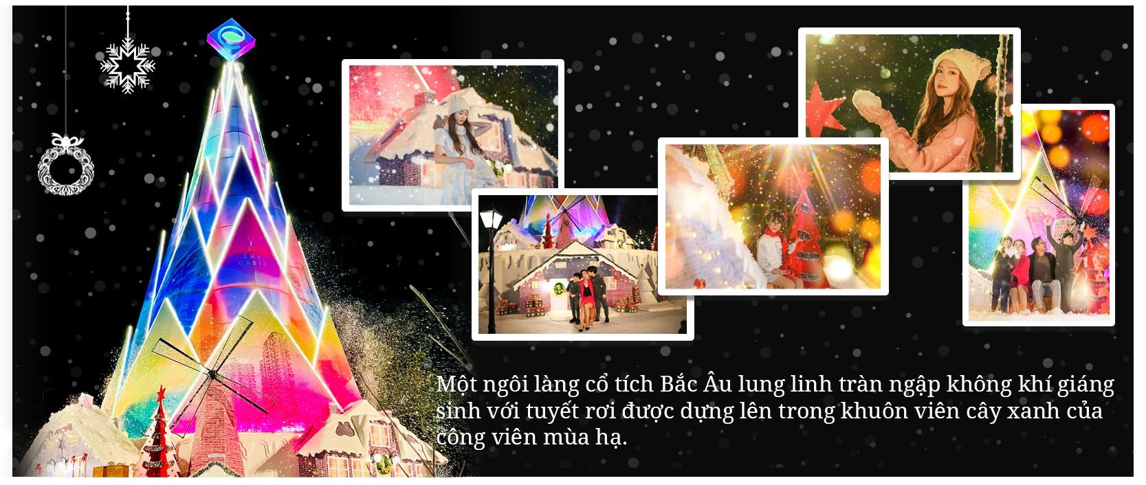 Giáng sinh tuyết trắng cùng búp măng Noel cao nhất Việt Nam tại Ecopark - 2