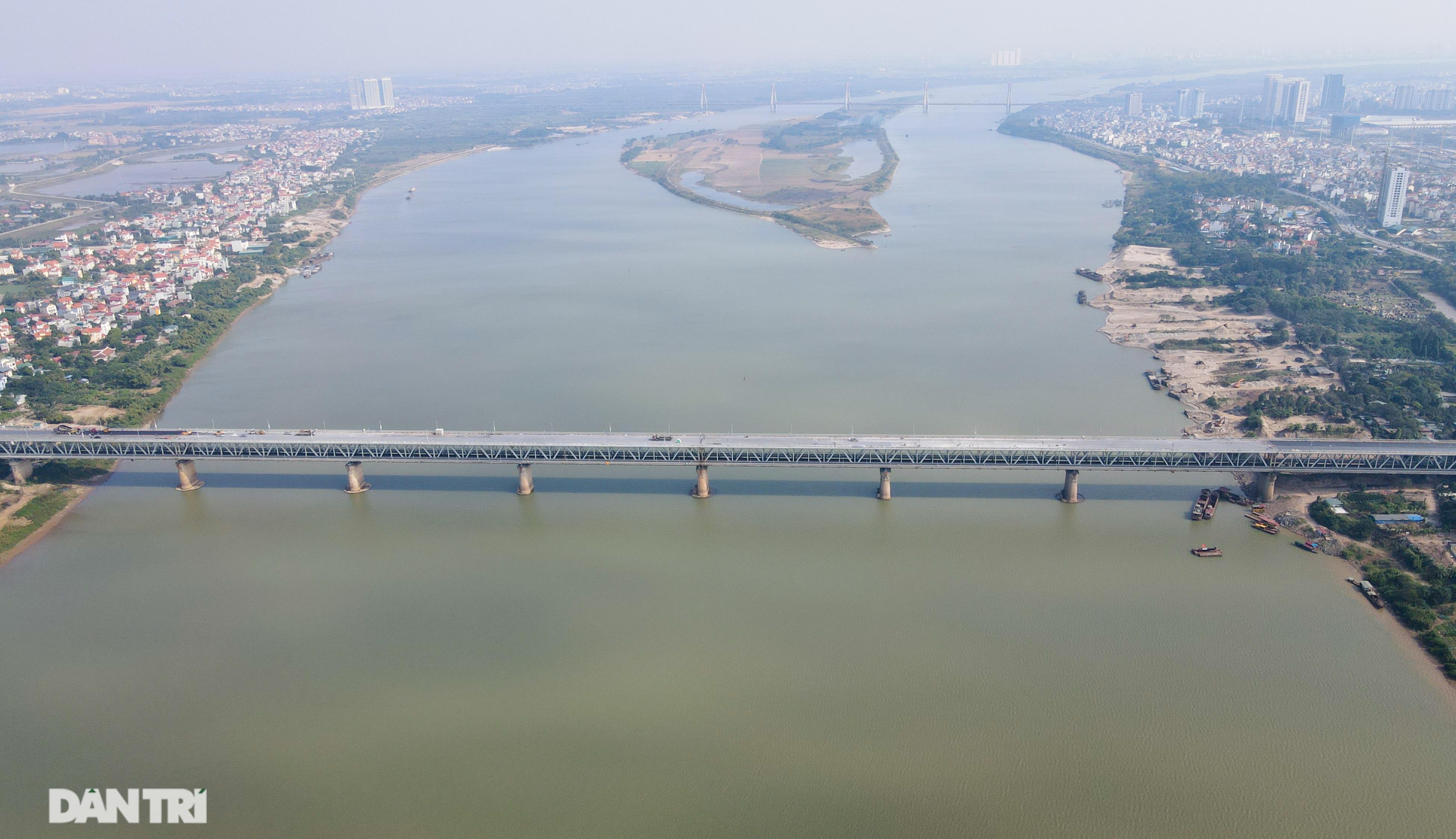 Những hình ảnh mới nhất của đại công trường sửa chữa mặt cầu Thăng Long - 1