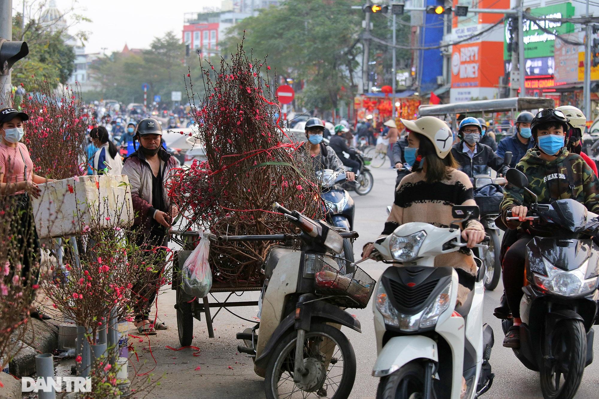 Chợ hoa bày bán trên đường phố Hà Nội đông khách bất chấp dịch Covid-19 - 2