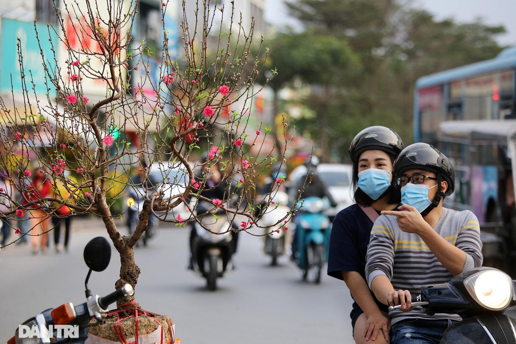 Chợ hoa bày bán trên đường phố Hà Nội đông khách bất chấp dịch Covid-19 - 3