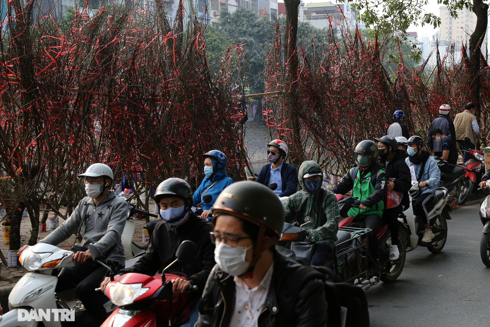 Chợ hoa bày bán trên đường phố Hà Nội đông khách bất chấp dịch Covid-19 - 4