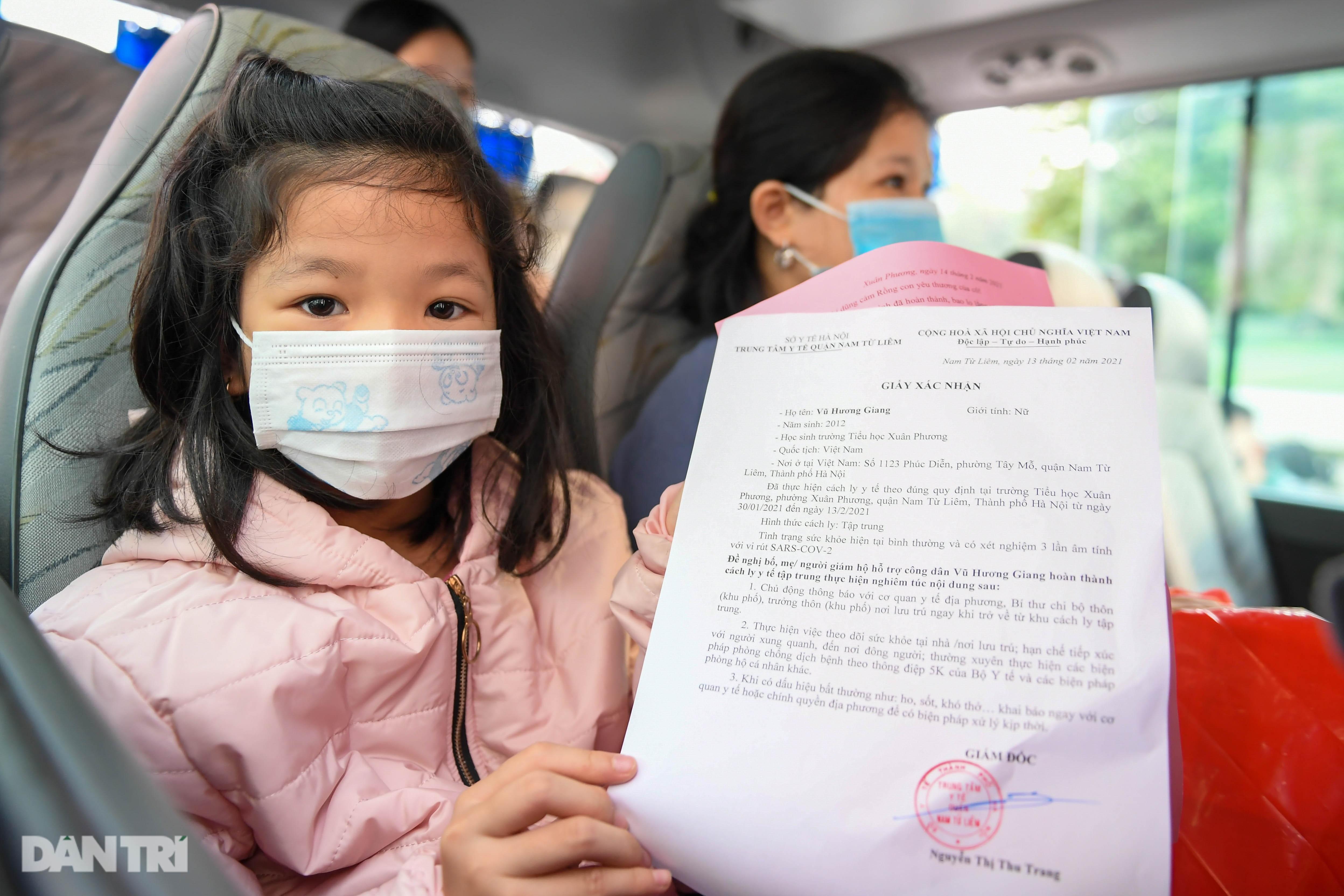 Toàn bộ người cách ly tại Tiểu học Xuân Phương được trở về nhà ăn Tết - 6