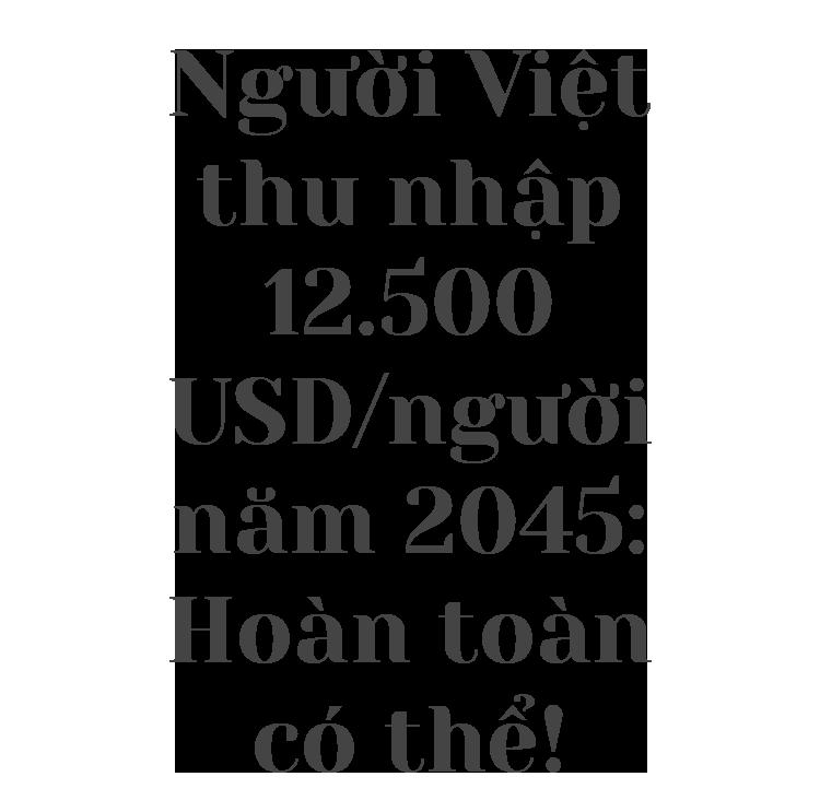 Người Việt thu nhập trên 12.500 USD năm 2045: Hoàn toàn có thể! - 2