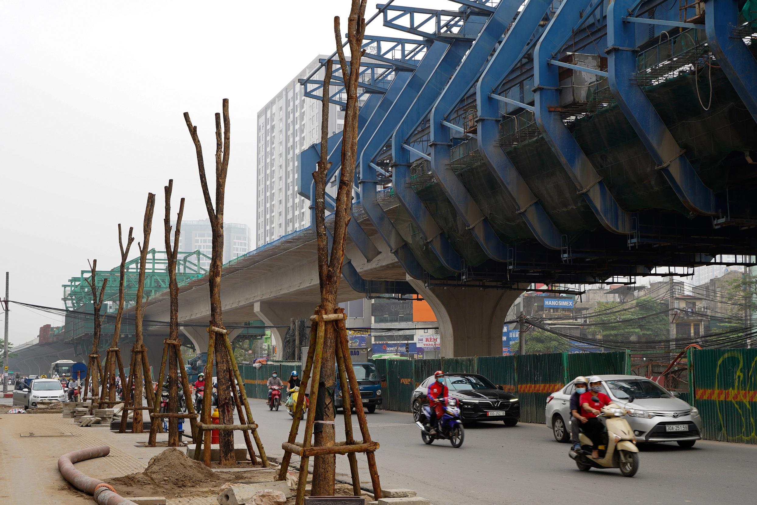 Gấp rút hoàn thiện đường vành đai 2 dưới thấp đoạn Đại La - Minh Khai - 9