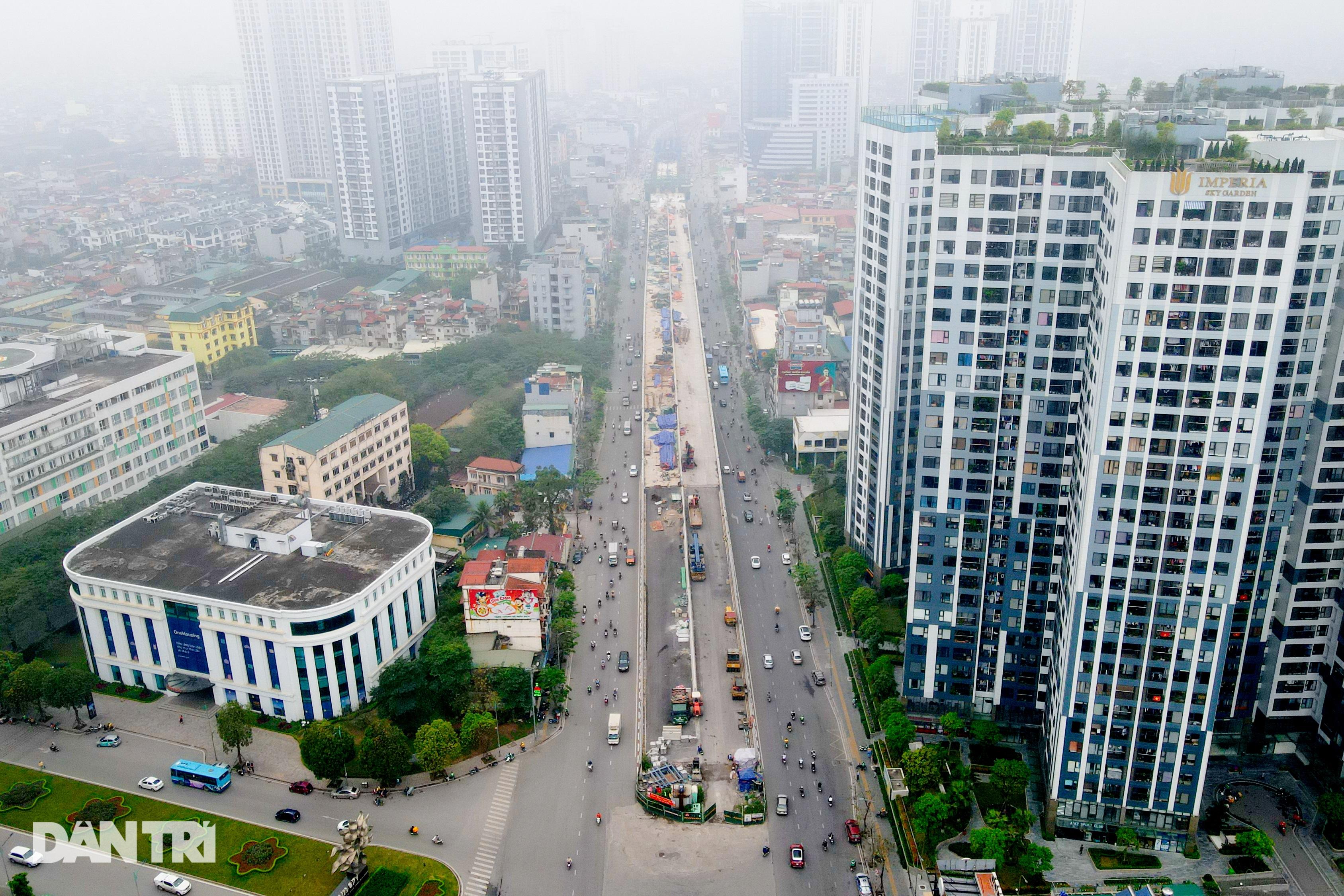 Cận cảnh đại công trường xây dựng đường vành đai 2 gần 10.000 tỷ đồng - 1