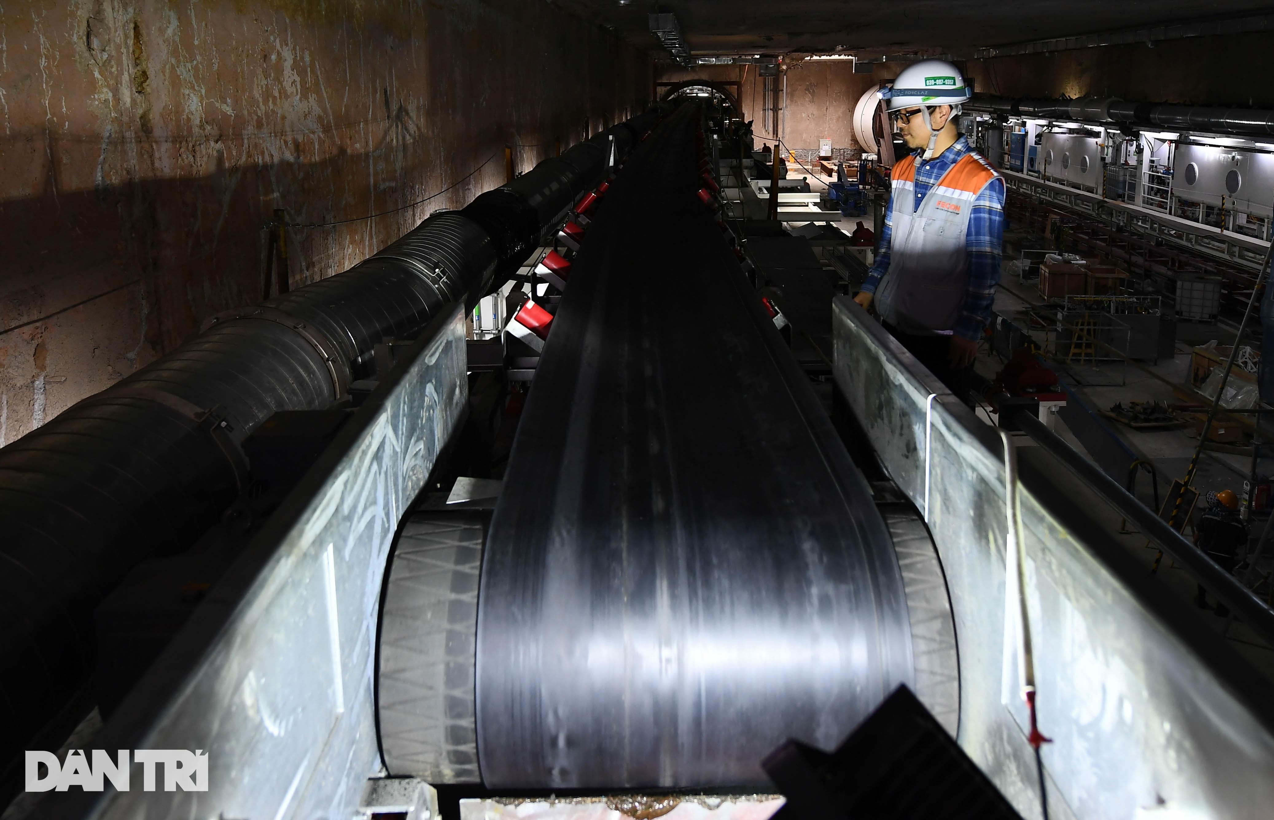 Quái vật 850 tấn đào hầm đường sắt Nhổn - ga Hà Nội lần đầu chạy thử - 11