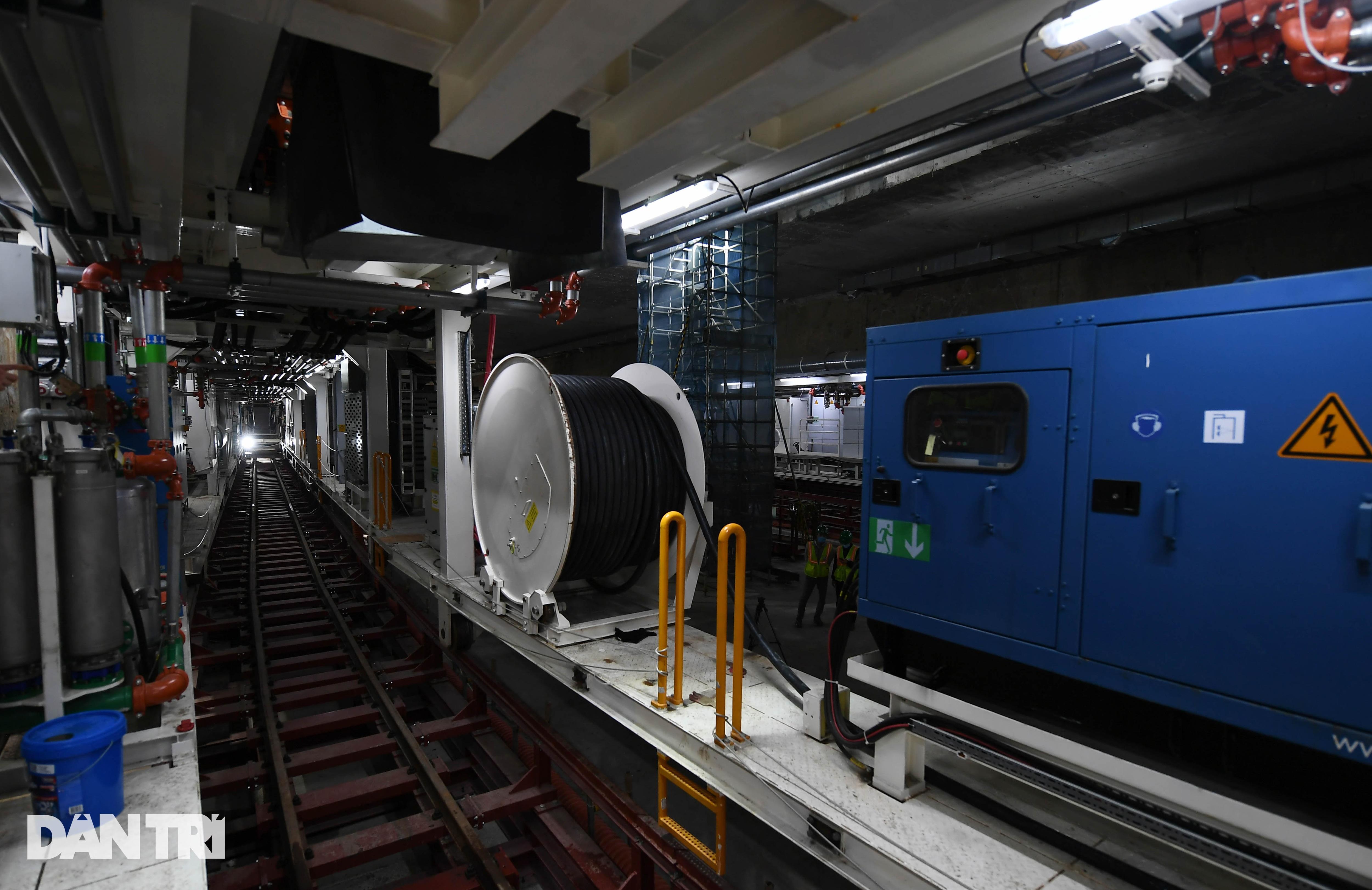 Quái vật 850 tấn đào hầm đường sắt Nhổn - ga Hà Nội lần đầu chạy thử - 12